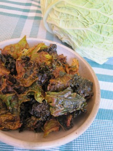Tahini Savoy Cabbage Chips