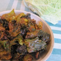 Day 105 - Tahini Savoy Cabbage Chips