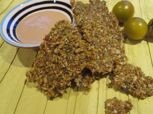 Sunflower and Pumpkin Seed Crackers