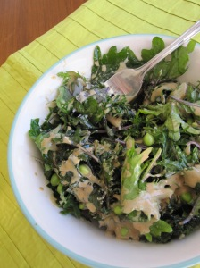 Kale and Sugar Pea Salad
