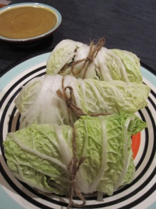 Cabbage Rolls with Asian Dip