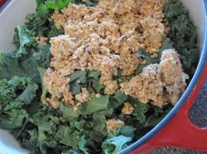 Add Seasoning Mixture to Kale