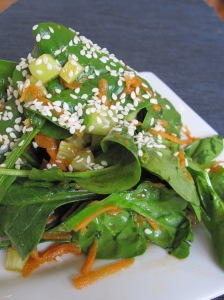 Spinach Salad with Asian Ginger Vinaigrette