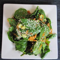 Day 206 - Spinach Salad with Asian Ginger Vinaigrette