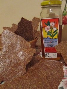 Honey and Cinnamon Flaxseed Crackers