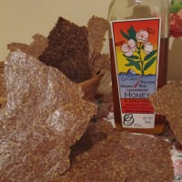 Day 241 - Honey and Cinnamon Flaxseed Crackers