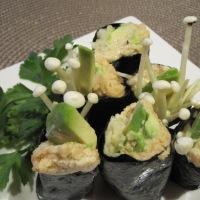 Day 254 - Enoki Mushroom Sushi Rolls