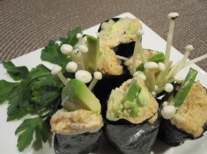 Enoki Mushroom Sushi
