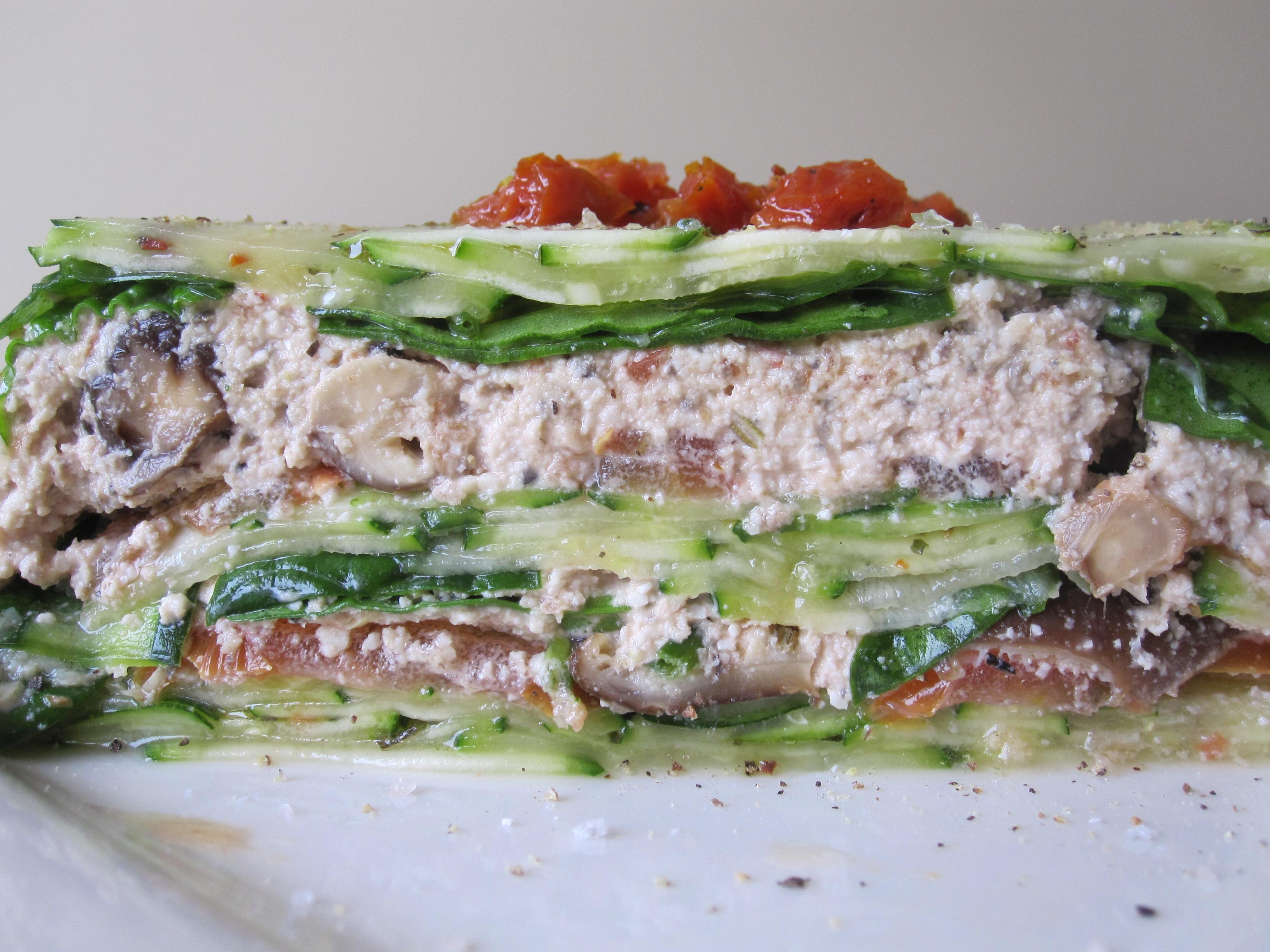 Day 257 mediterranean style pressed lasagna ally 39 s raw for Mandolin mediterranean kitchen