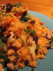 Carrot, Walnut and Sultana Cous Cous