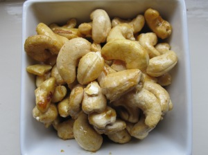Curry Glazed Cashews