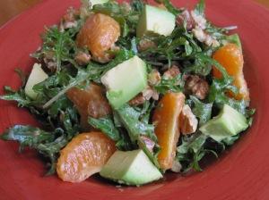 Mandarin Salad with Sweet Miso Dressing
