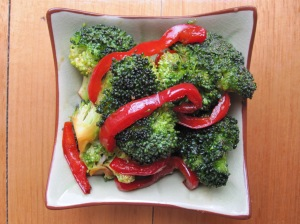 Marinated Broccoli and Red Capsicum