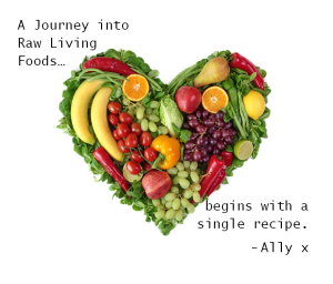 A Journey into Raw Living Foods begins with a single recipe. - Ally