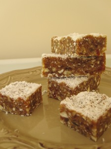 Hazelnut and Date Slice