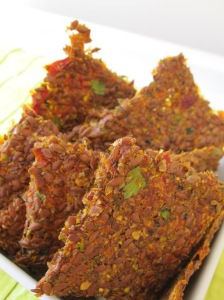 Sun-Dried Tomato Flaxseed Crackers