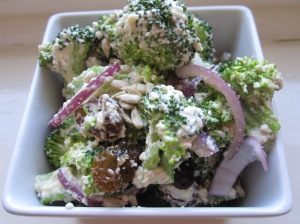 Raw Broccoli Salad