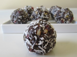 Chocolate - Cranberry Nut Balls