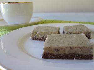 Nut Free Choc-Mint Cheesecake Slice