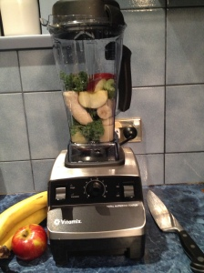 Christening my Vitamix in the most perfect way - a green smoothie!