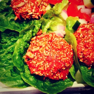 Raw Tomato Curry Burgers