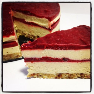 Layered Raspberry Cheesecake
